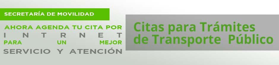 Citas para Trámites de Transporte Público